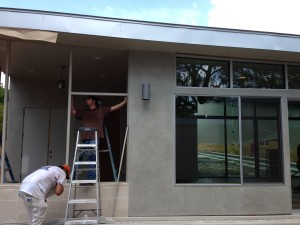 putting up a solar screen