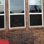 Hail damage to window Lakeway Texas