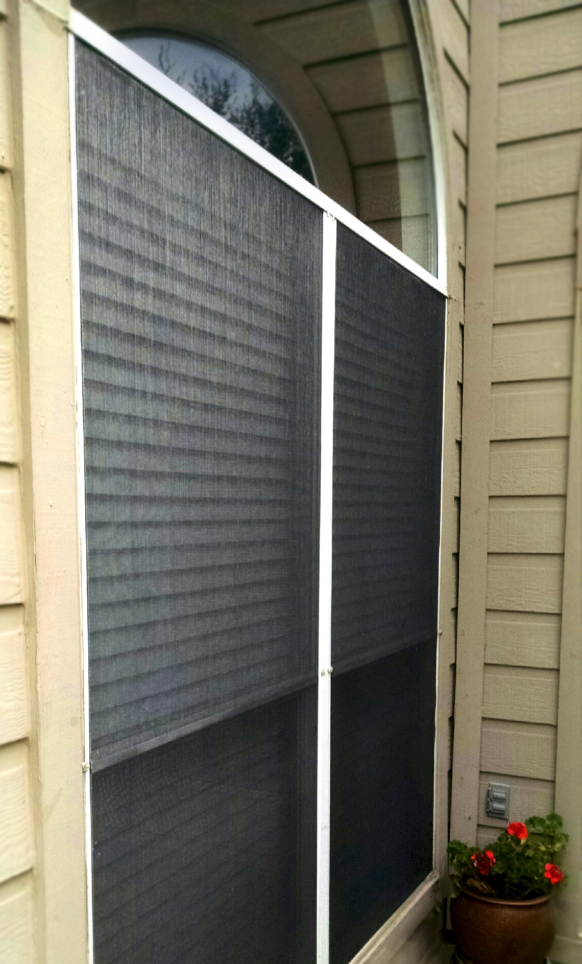 Exterior: Screen Installation And Repair For Solar Screens And