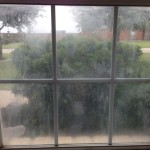 Foggy window glass repaired Austin TX Before