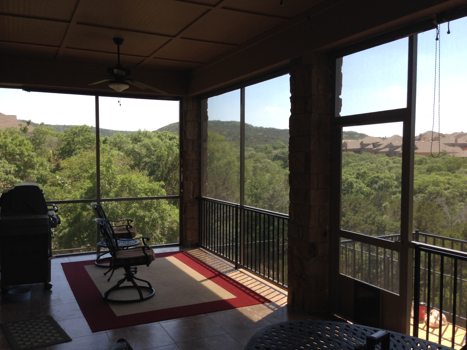 Exterior: Solar Screen, Fogged Window, And